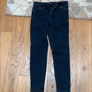 Topshop blue black Jamie Jeans